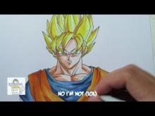 Embedded thumbnail for How to draw Super Saiyan Goku