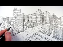 Embedded thumbnail for How To Draw A City Using Two Point Perspective