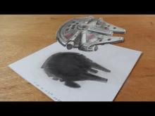 Embedded thumbnail for Drawing 3D Millennium Falcon from the Star Wars Film